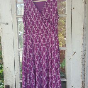 Purple dress 41 Hawthorn, wrap knee length dress